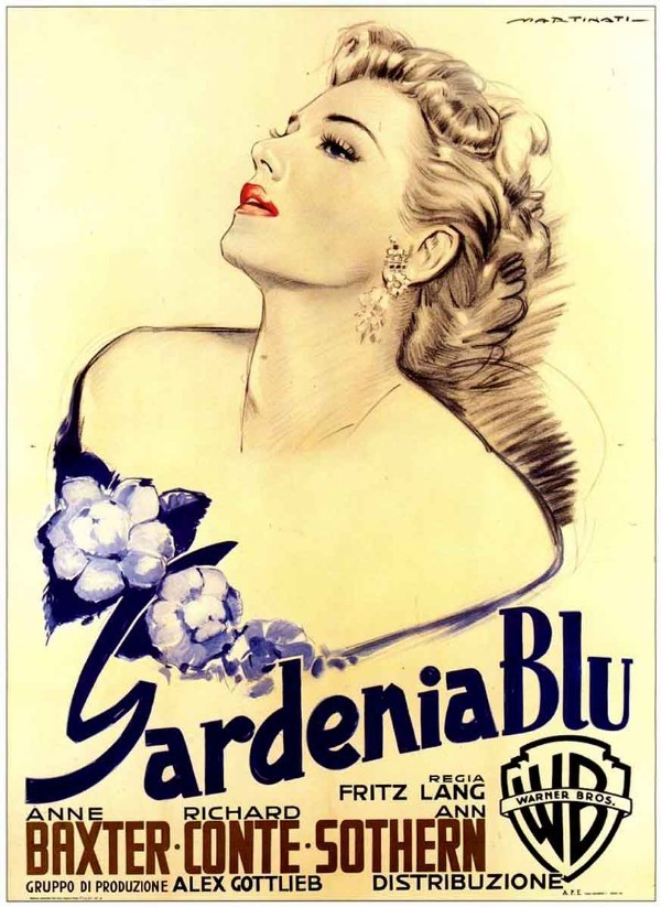 20_The Blue Gardenia (1953). Italian poster by Luigi Martinati..jpg