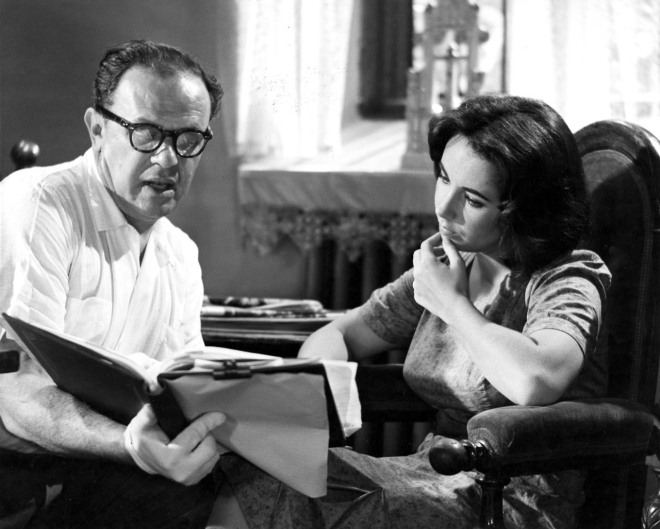 23_Director Joseph L. Mankiewicz and Elizabeth Taylor, On the set of Suddenly Last Summer..jpg