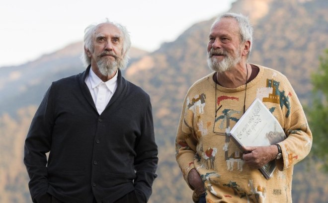 2_Jonathan Pryce and Director Terry Gilliam on the set of The Man Who Killed Don Quixote.jpg