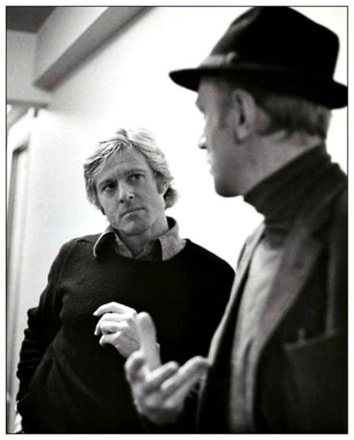 5_Robert Redford and Max von Sydow on the set of Three Days of the Condor (1975).jpg