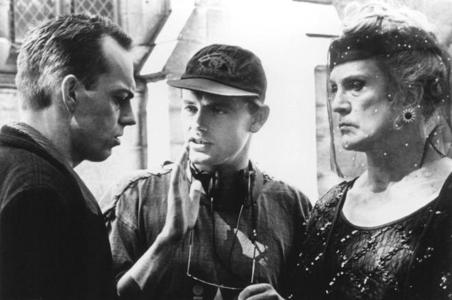 8_Hugo Weaving, Director Stephan Elliott and Terence Stamp on the set of The Adventures of The Adventures of Pricilla, Queen of the Desert..jpg