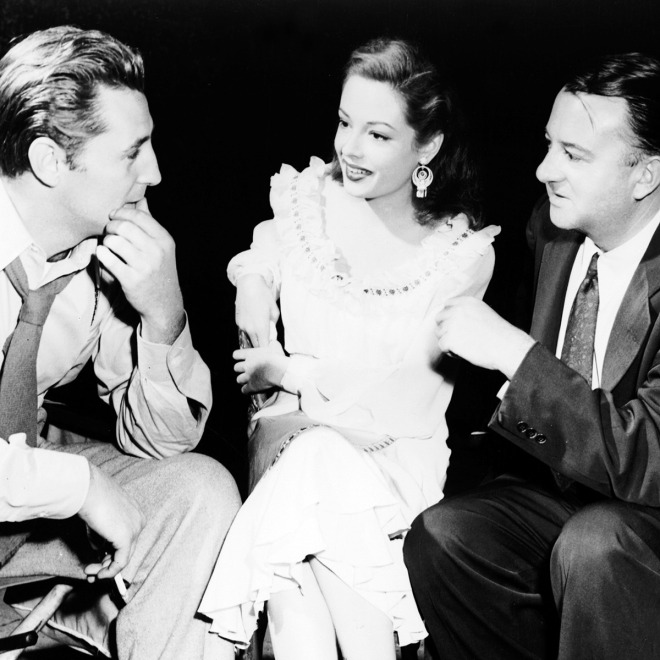13_Jacques Tourneur here with Robert Mitchum and Jane Greer on the set of OUT OF THE PAST, 1947.jpg