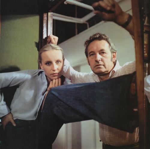 "30_Krystyna Janda & Andrzej Wajda on the set of ""Man of Marble"".jpg"