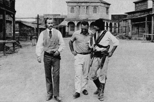 8_Franco Nero, Sergio Corbucci & Tomas Milian on the set of Companeros, Elios Studios, Rome, September 1970.jpg