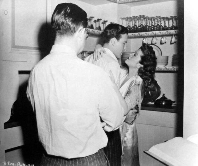 Robert Wise directing Lawrence Tierney and Claire Trevor on the set of BORN TO KILL.jpg