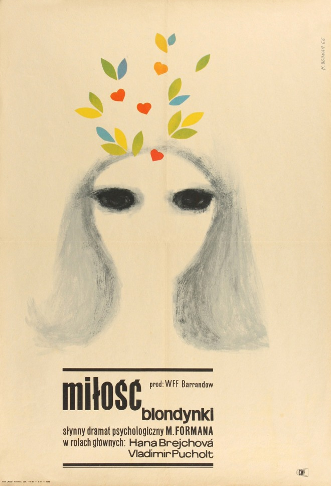 2_1966 Polish poster for LOVES OF A BLONDE (Milos Forman, Czechoslovakia, 1965) Designer - Hannah Bodnar.jpg