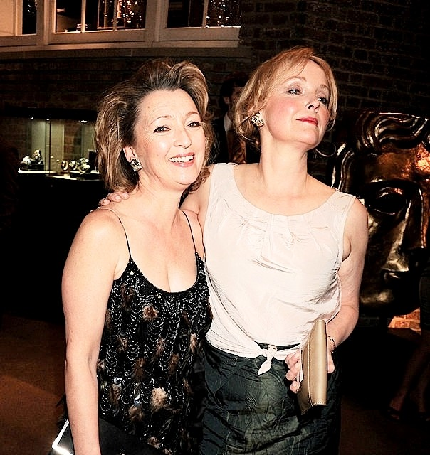 Lesley Manville and Miranda Richardson attend The Orange British Academy Film Awards - Nominees Party - hosted by Asprey London on February 12th, 2011 in London, England-2.jpg