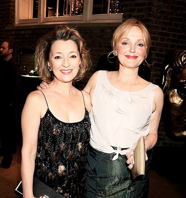 Lesley Manville and Miranda Richardson attend The Orange British Academy Film Awards - Nominees Party - hosted by Asprey London on February 12th, 2011 in London, England-3.jpg