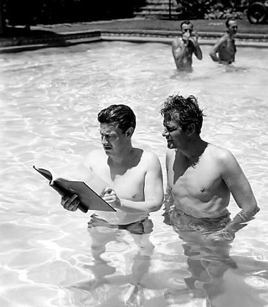 Preston Sturges and Joel McCrea while making Sullivan's Travels in 1941.jpg