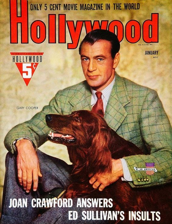 Gary Cooper on the cover of Hollywood magazine, USA, January 1941..jpg