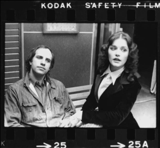 Margot Kidder & Brian de Palma on the set of sisters (1972)-2