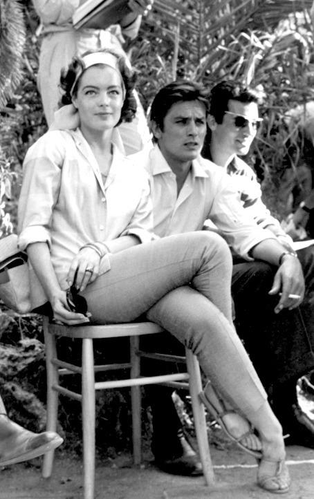 Romy Schneider & Alain Delon on the set of The Leopard, 1963 .jpg