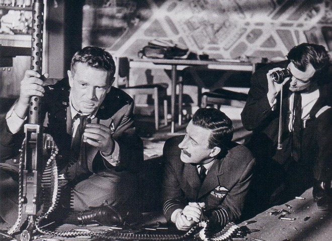 11_Director Stanley Kubrick lines up a shot of Sterling Hayden and Peter Sellers on the set of Dr. Strangelove or  How I Learned to Stop Worrying and Love the Bomb.jpg