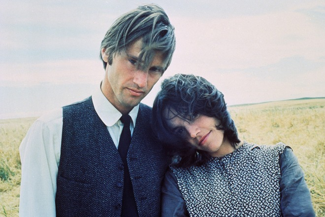 3_Sam Shepard and Brooke Adams on the set of Terrence Malick's Days of Heaven,.jpg