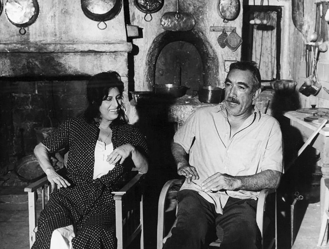 4_Anna Magnani & Anthony Quinn on the set of The Secret of Santa Vittoria, 1969-2