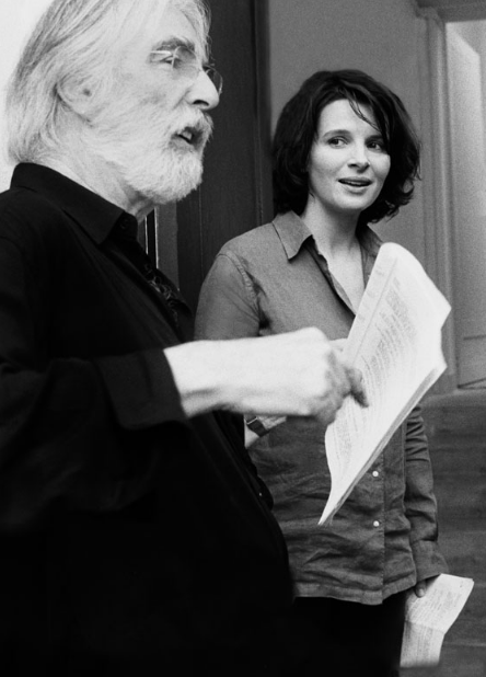 Michael Haneke and Juliette Binoche on the set of Caché.png