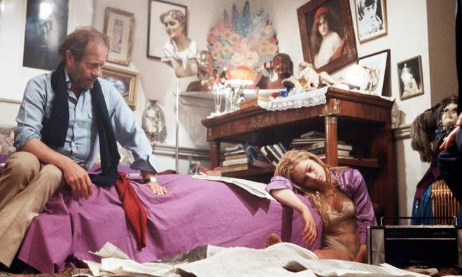 8_Nicolas Roeg and Theresa Russell on the set of 'Bad Timing', 1980..jpg