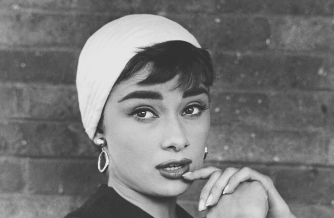 Audrey photographed by Dennis Stock during the production of Sabrina in Long Island, New York, USA in 1954..jpg