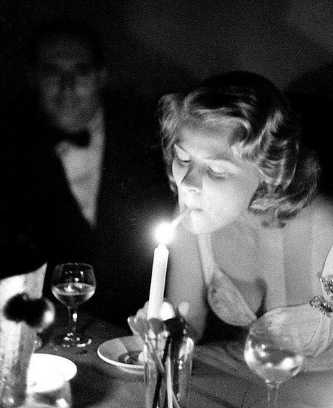 Ingrid Bergman and Roberto Rossellini at Cannes, 1956. By DW Mault.jpg