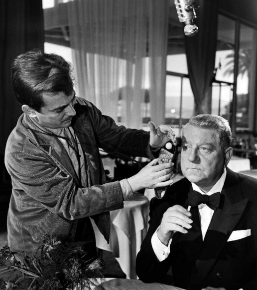 Jean Gabin on the set of Mélodie en sous-sol (1962).png